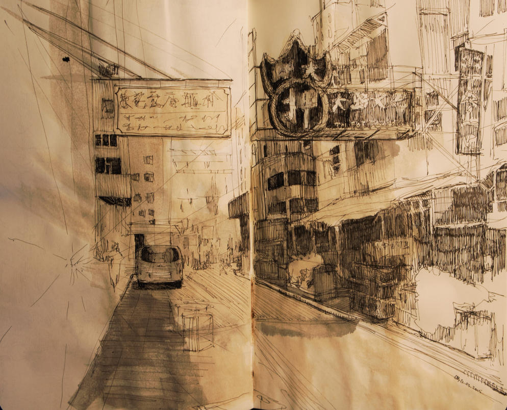 Street Sketch by Tifaerith