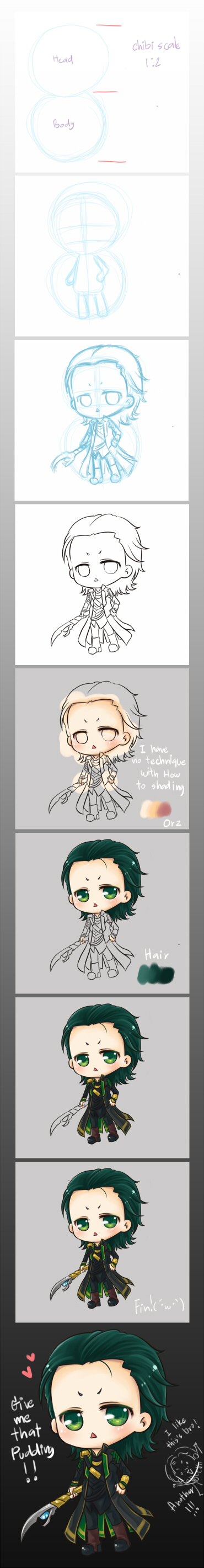 :Loki:How to draw chibi Loki by PrinceOfRedroses