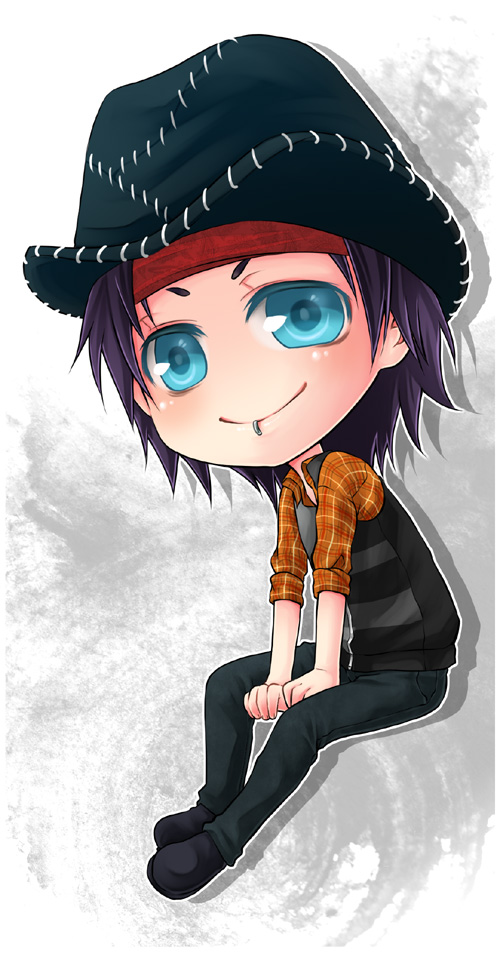:Gn'R: Chibi Ashba by PrinceOfRedroses