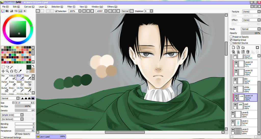 :WIP: Levi Heichou test by PrinceOfRedroses