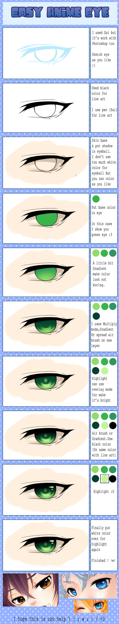 :My Easy Eye Anime color style: by PrinceOfRedroses
