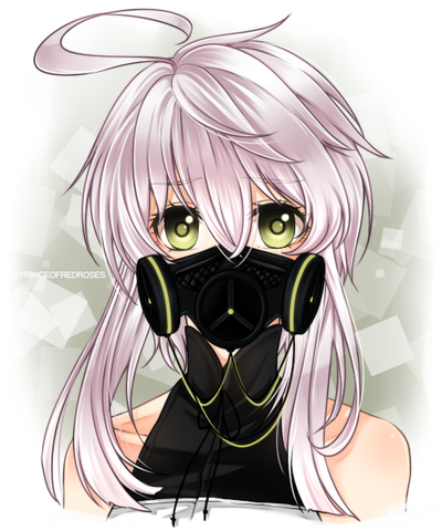 X 39 mas raffle prize 1 gas mask for silverblossoms by - Anime girl with gas mask ...