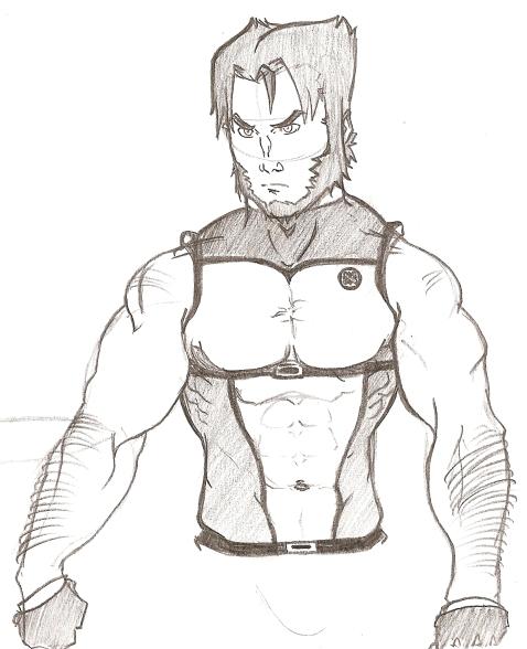 Sketch - Wolvy Half Body By Duducaico On DeviantART
