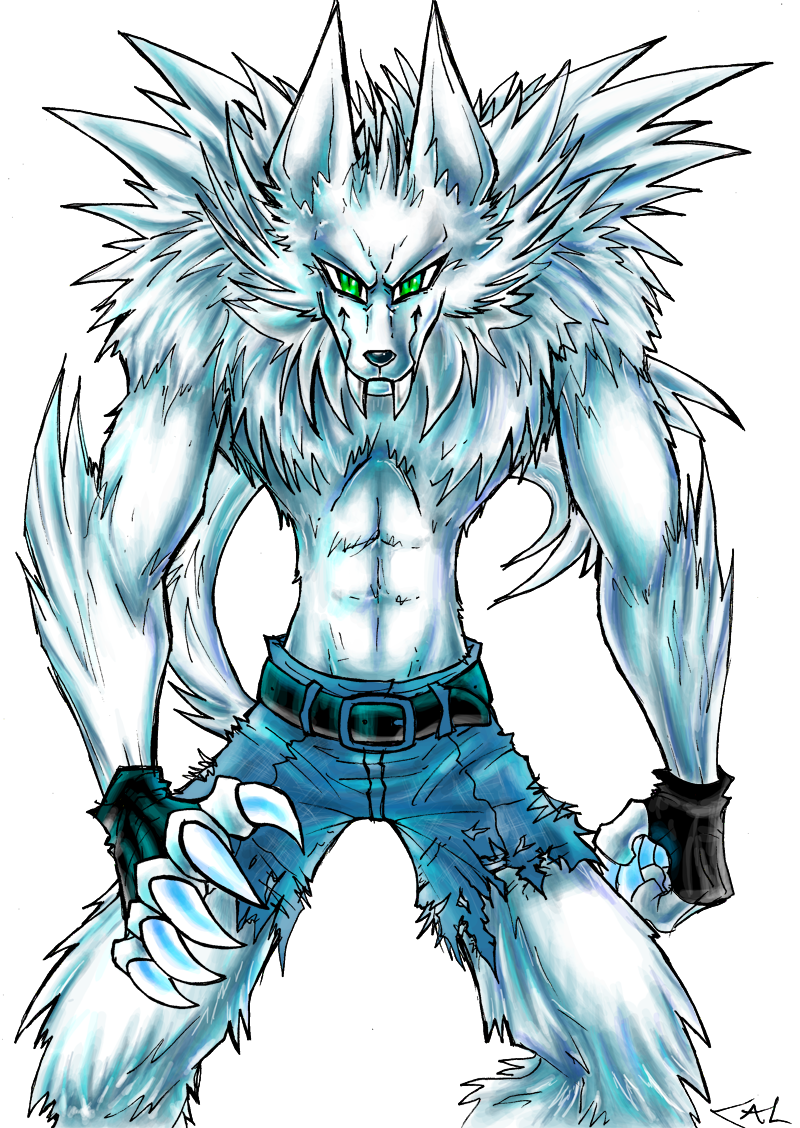 Werewolf coloured by Strixic