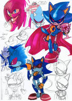 Metal Sonic Colour Sketches by Strixic