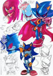 Metal Sonic Colour Sketches
