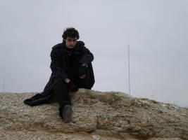 Resting on Cliff by JoyfulStock