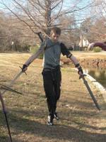 Dual Wielding Swordsman by JoyfulStock