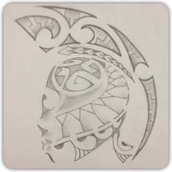 Polynesian Shoulder Piece by A18cey