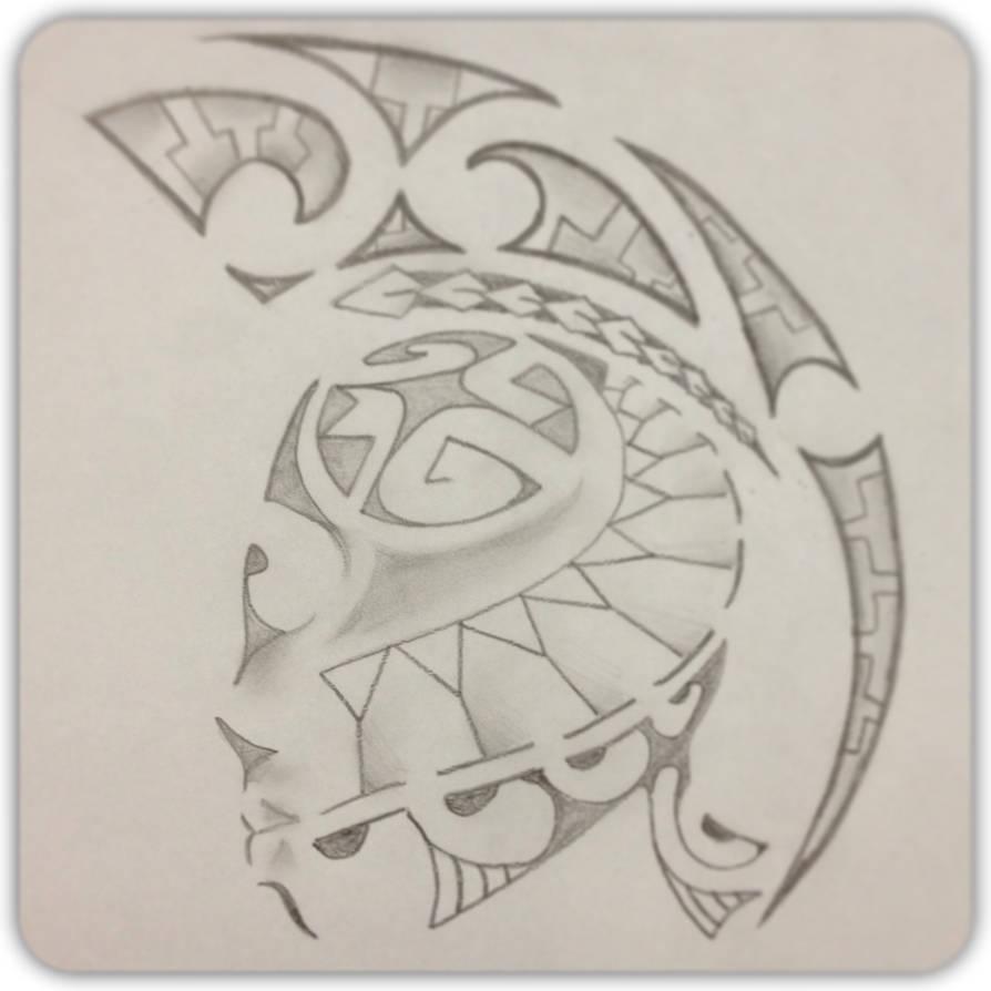Polynesian Shoulder Piece by A18cey