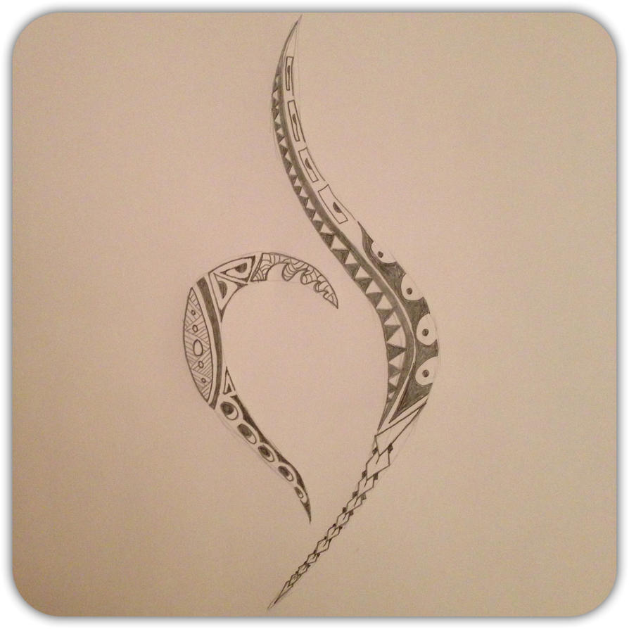 Polynesian neda symbol by a18cey on deviantart for Eating disorder symbol tattoo