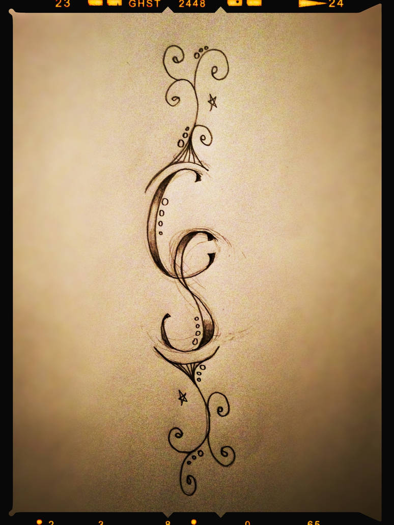 Initials and swirls by A18cey