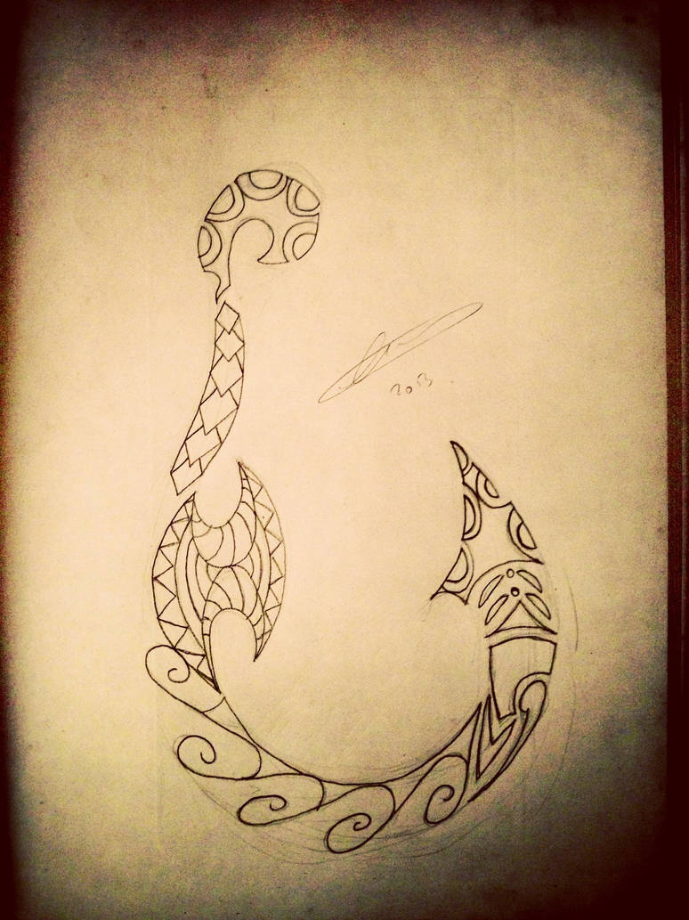 Polynesian hook outline by A18cey