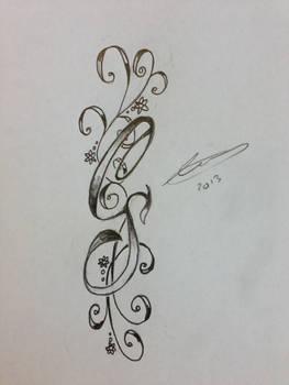 CS initials Tattoo