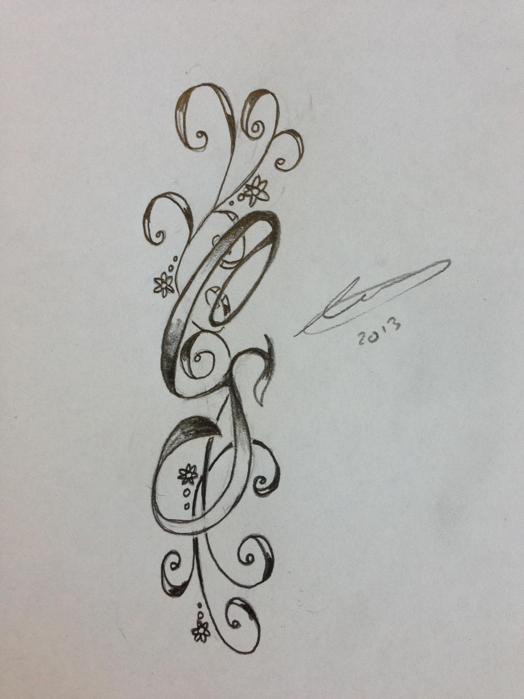 Initial S Tattoo Designs Cs Initials By A18cey