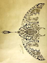 Polynesian Manta Ray/Turtle by A18cey