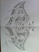 Polynesian manta ray tattoo by A18cey