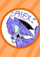 Alex badge! (owed badge for cactus-trash) by Ferretoys