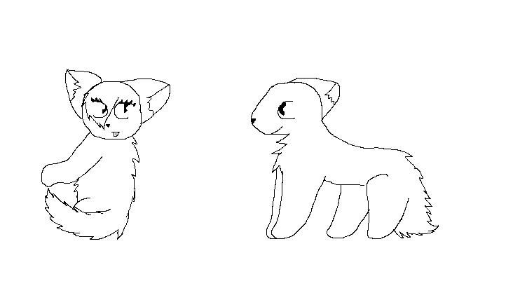Warrior Cats in Love Lineart my Warrior Cat Couple Lineart