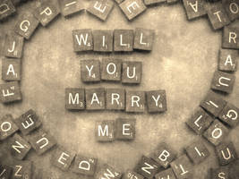Will You Marry Me in Sepia by Scrabblicious