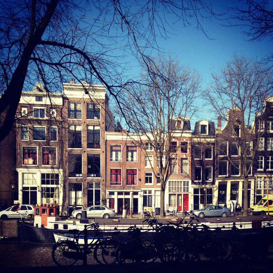 A Canal Street in Amsterdam by LPhela