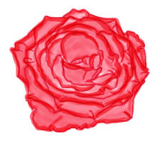Painted Red Rose