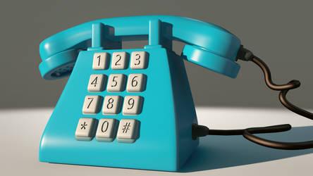 Retro 1980 Telephone Model