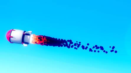 Cartoony Rocket