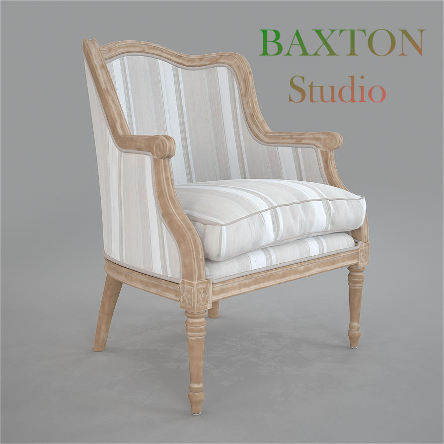 Baxton Studio Charlemagne French Accent Chair by viiik33