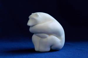 Cold Polar Bear Figurine by MiniMynagerie