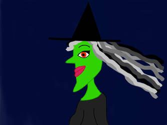 Wicked Cartoon Witch by Anira