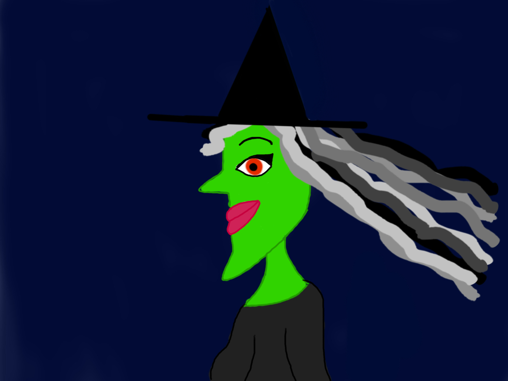 Wicked Cartoon Witch by Anira