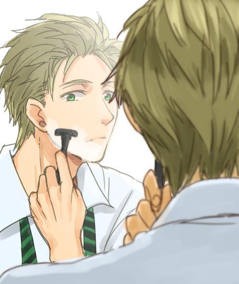 Makoto shaving by chloem56