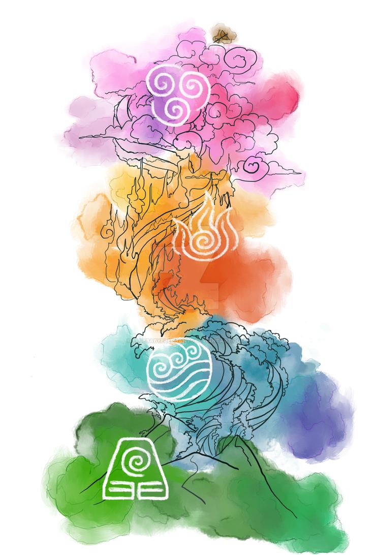A:tla watercolor by BlueBabyElephants