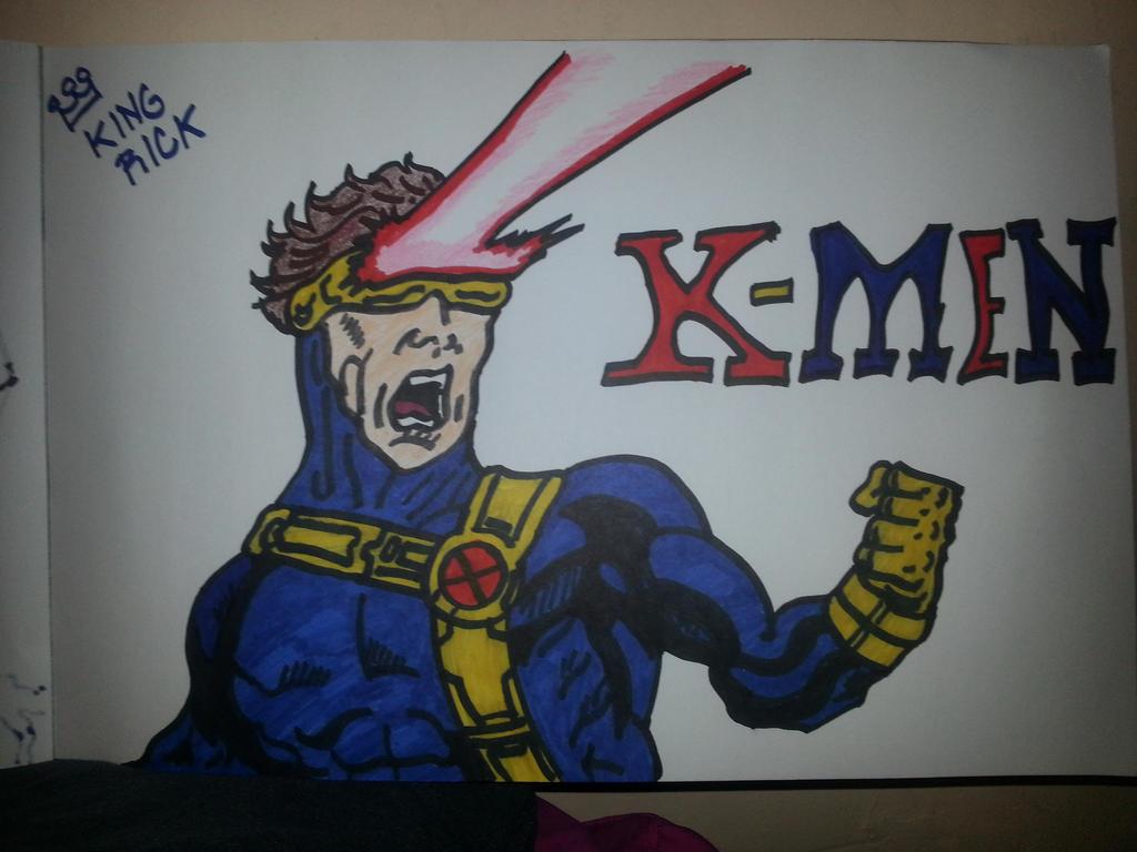 X Men Cyclops Drawings X-men Cyclops drawing by