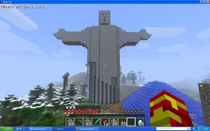 Minecraft Jesu Rio De Janeiro by TripleEx1