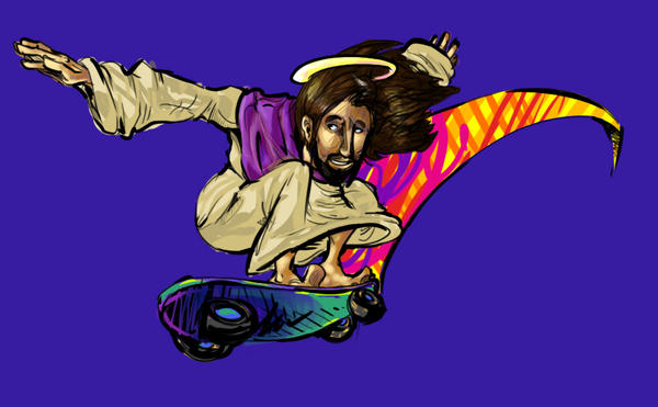 Holy jesus on a skateboard by super mario whirled on deviantart