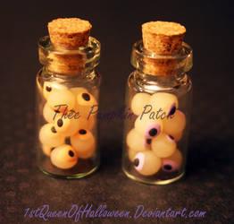 Mini Eyeball Bottles WIP by 1stQueenOfHalloween