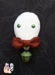 Rustic Simplistic Green Ghost Halloween Dangle by 1stQueenOfHalloween