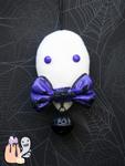 Rustic Simplistic Purple Ghost Halloween Dangle by 1stQueenOfHalloween