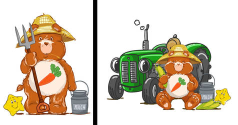 Care Bear Farmer by LinestyleArtwork