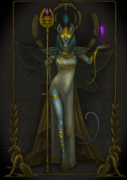 Bastet. Goddess of fertility from ancient Egypt.