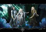 Show me your Truth-Celebrimbor, Eledhwen + Annatar by LinestyleArtwork
