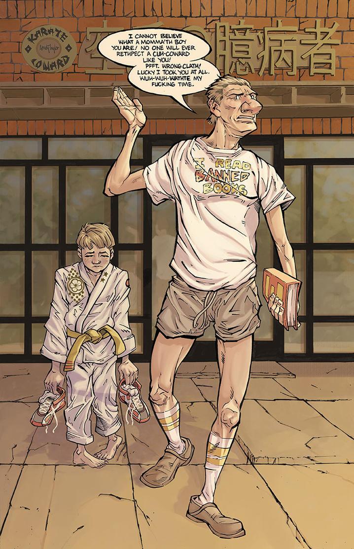 Karate Coward by ANDYTAYLOR-GARBAGE