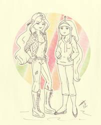 Adventure Time Girls by Ladymalk