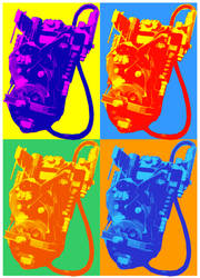 GB Proton Packs - Warhol style by StudioCreations