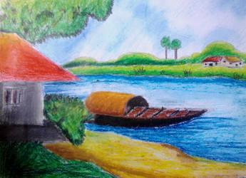 Village Landscape by Linu-Altair
