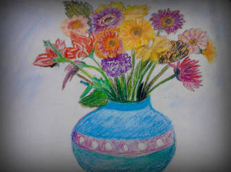 Flower in Vase by Linu-Altair