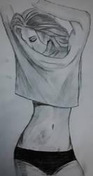 Girl in panties by Linu-Altair
