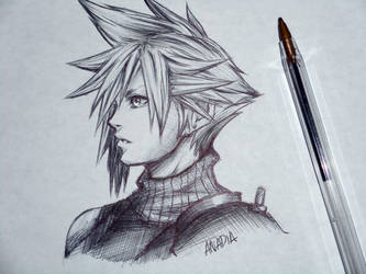 Day #1: Cloud Strife by Anadia-Chan